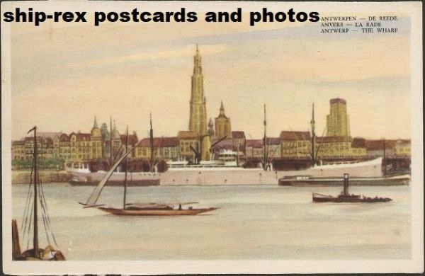 Antwerp (Belgium) port, postcard (c)